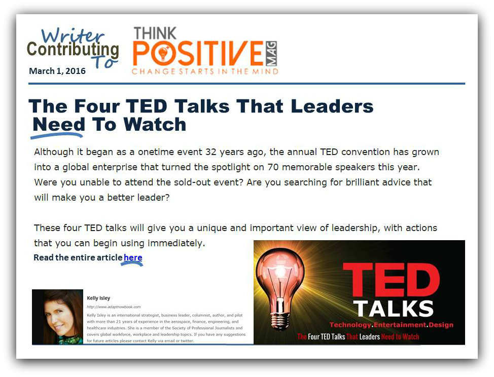 New Article for Think Positive Magazine